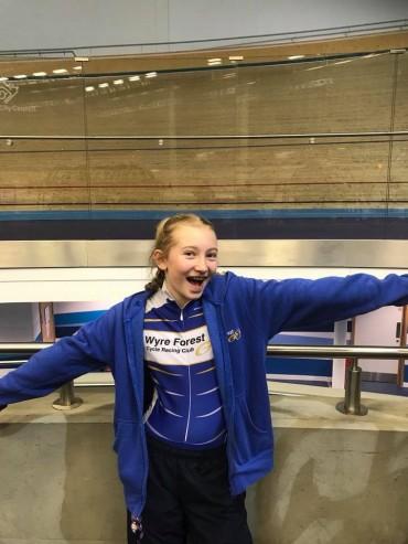 Posie Forrester track cyclist